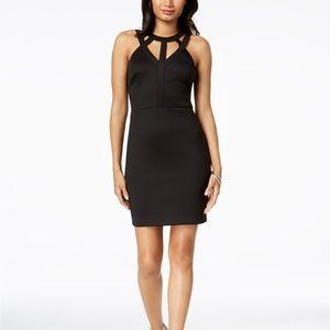 GUESS Caged Scuba Bodycon Dress Black Size 14
